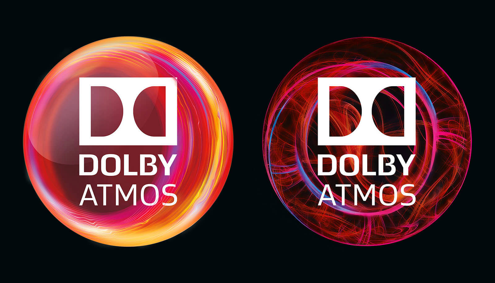 dolby digital dolby atmos packaging logo - red