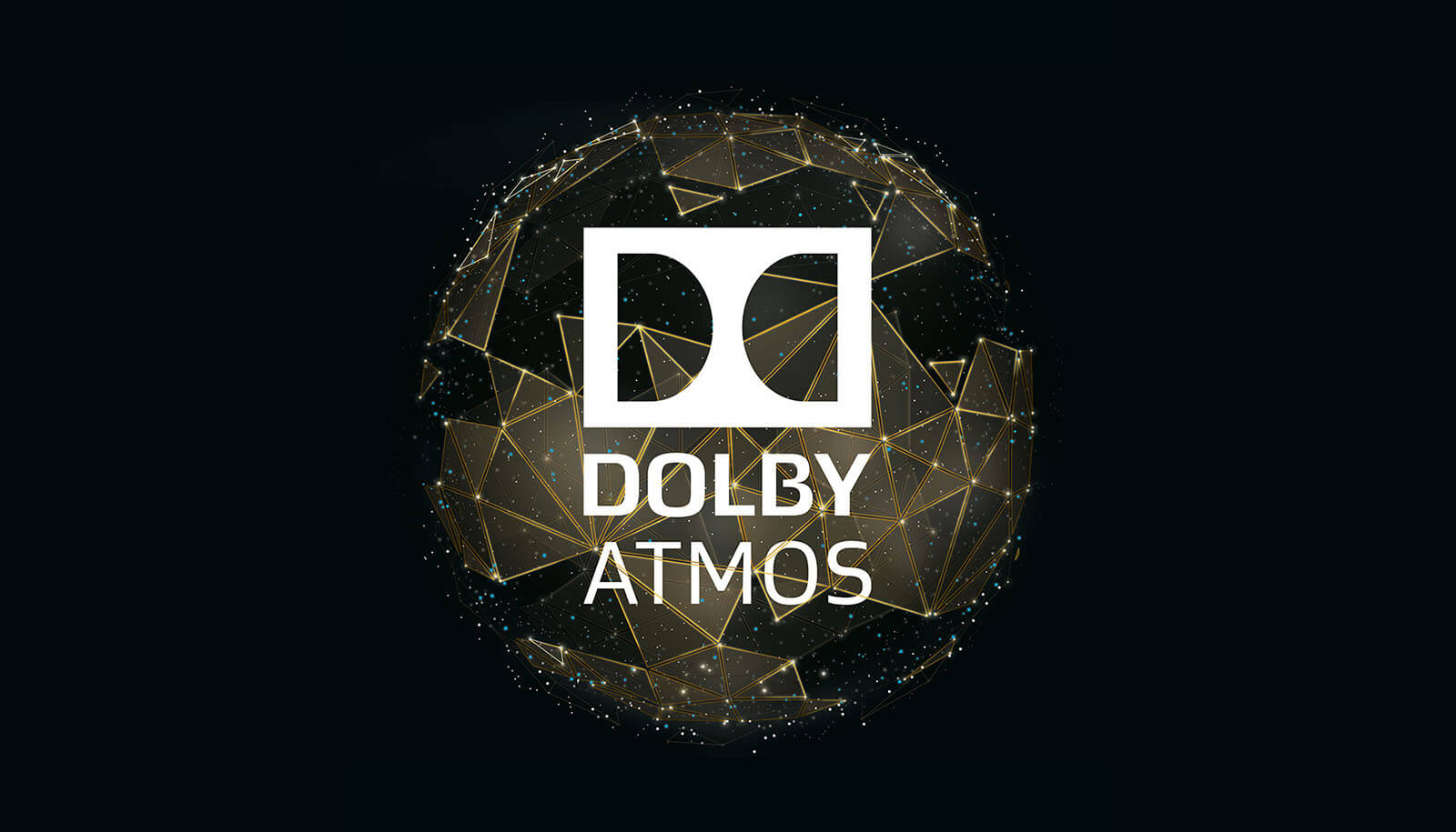 dolby digital dolby atmos packaging logo - gold
