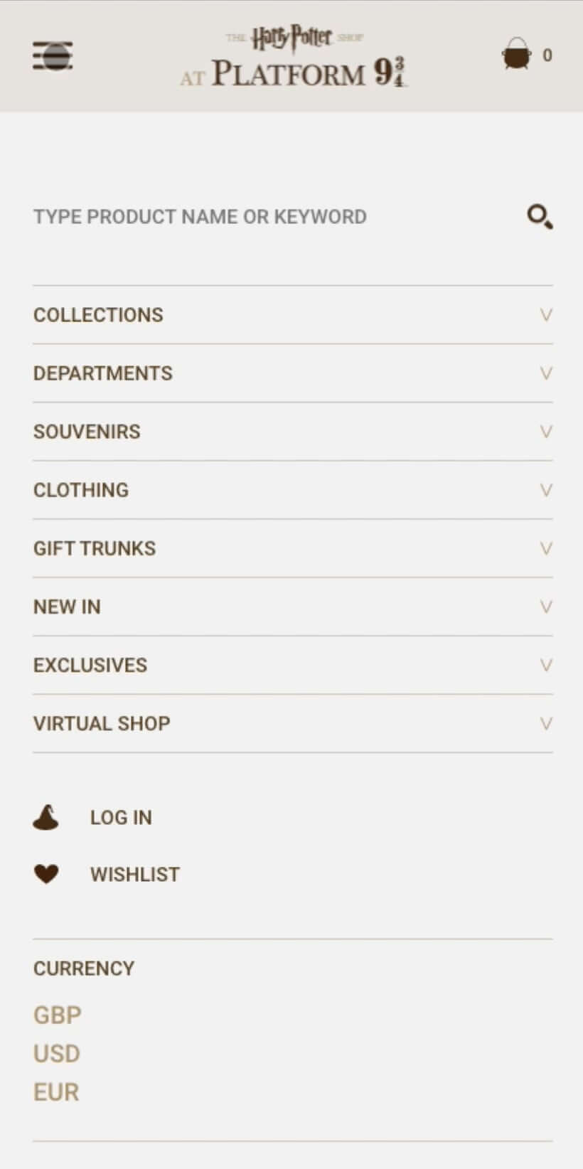 harry potter mobile menu - 2