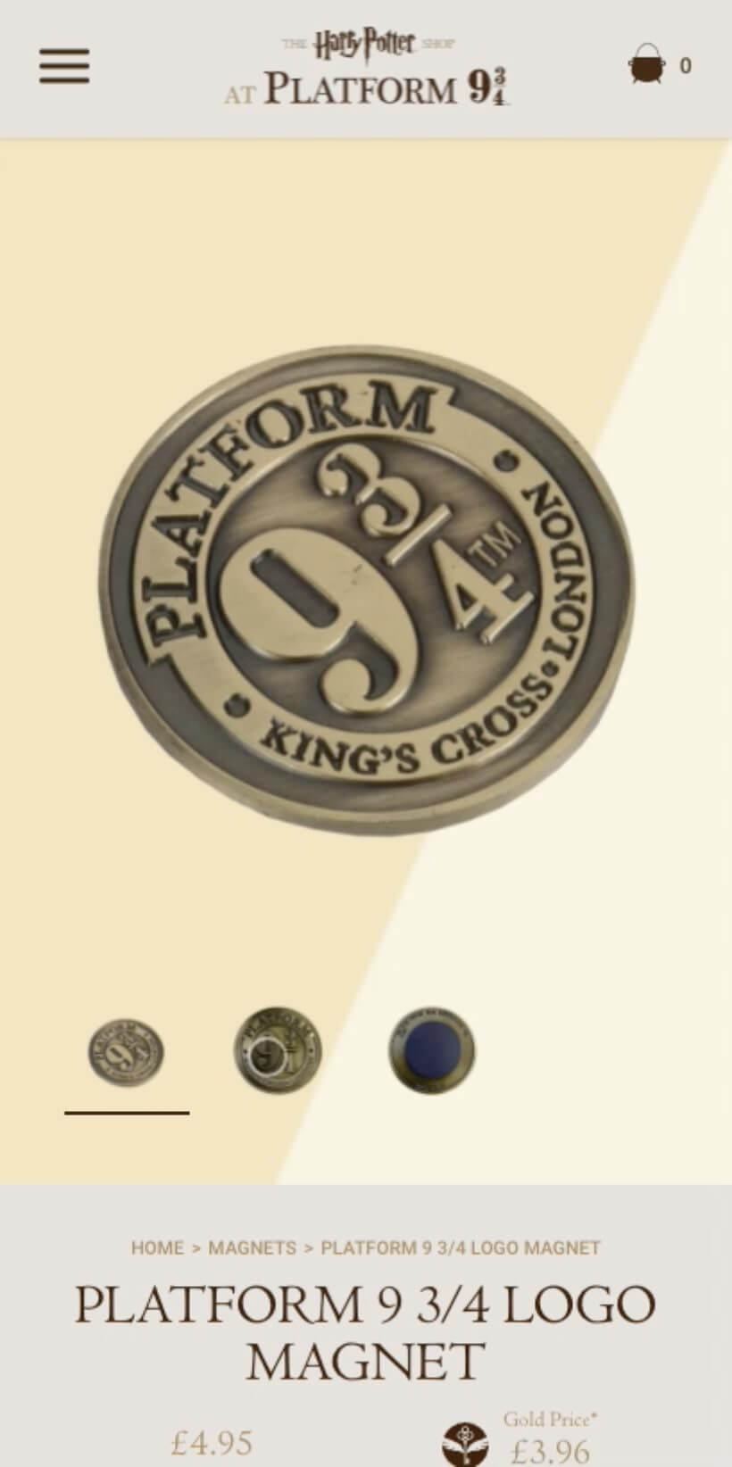 harry potter mobile platform coin product