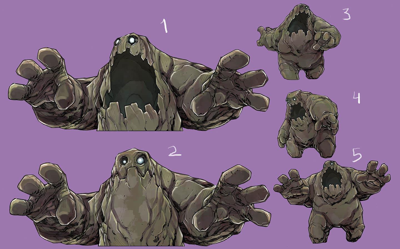 danone milk safio quest monster illustration