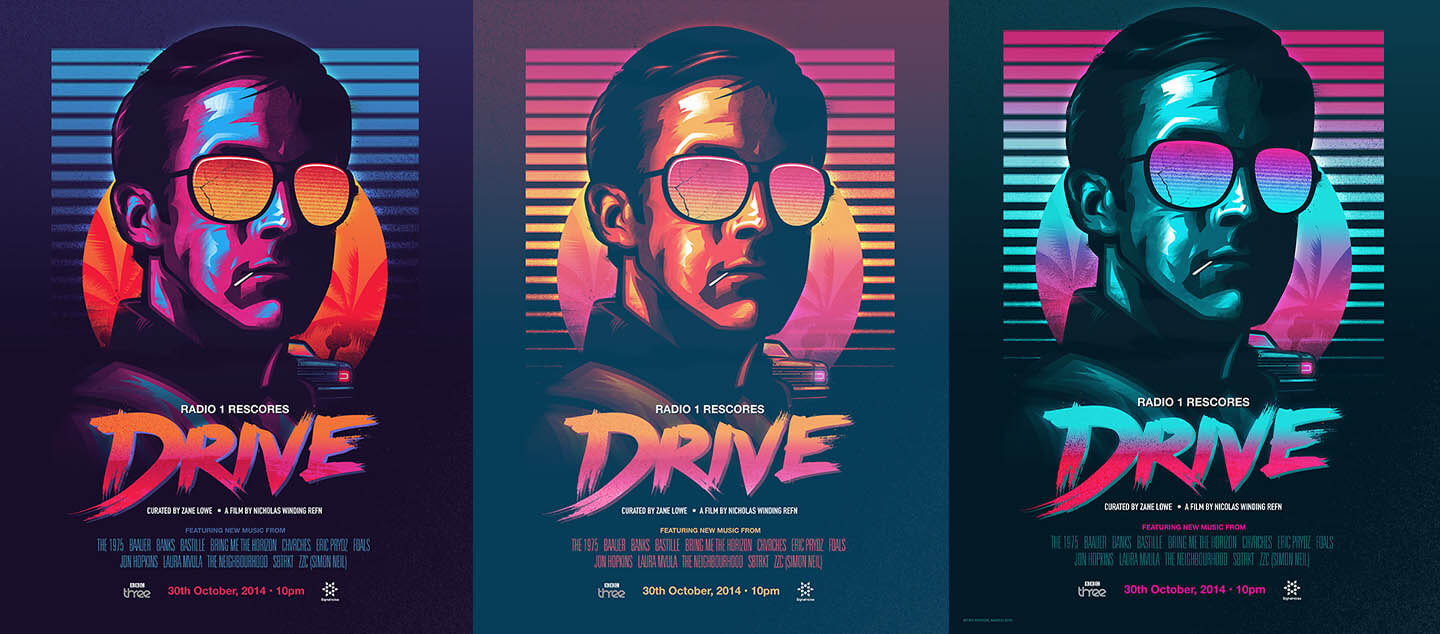drive movie poster studiocanal signalnoise james white - variants
