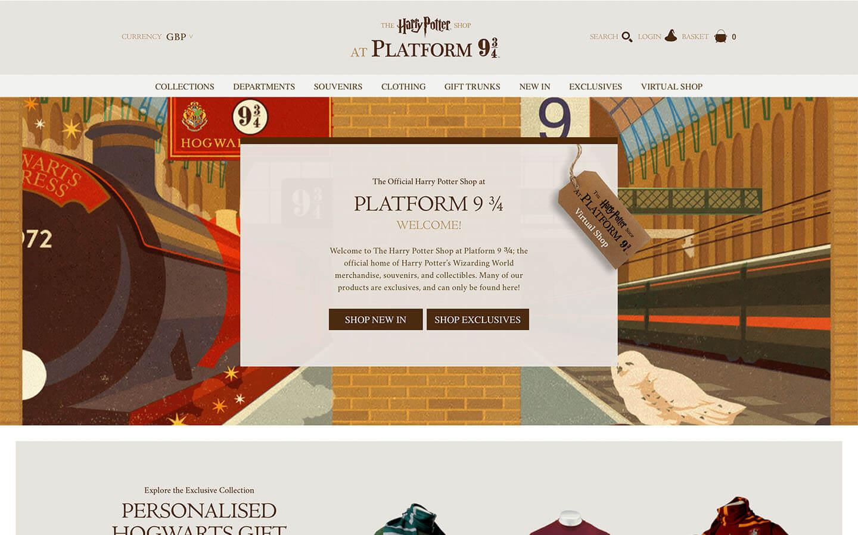 harry potter platform 9 3/4 online shop - homepage