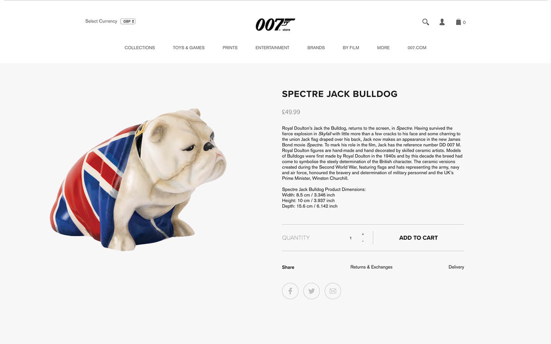 james bond 007 store bulldog product spectre