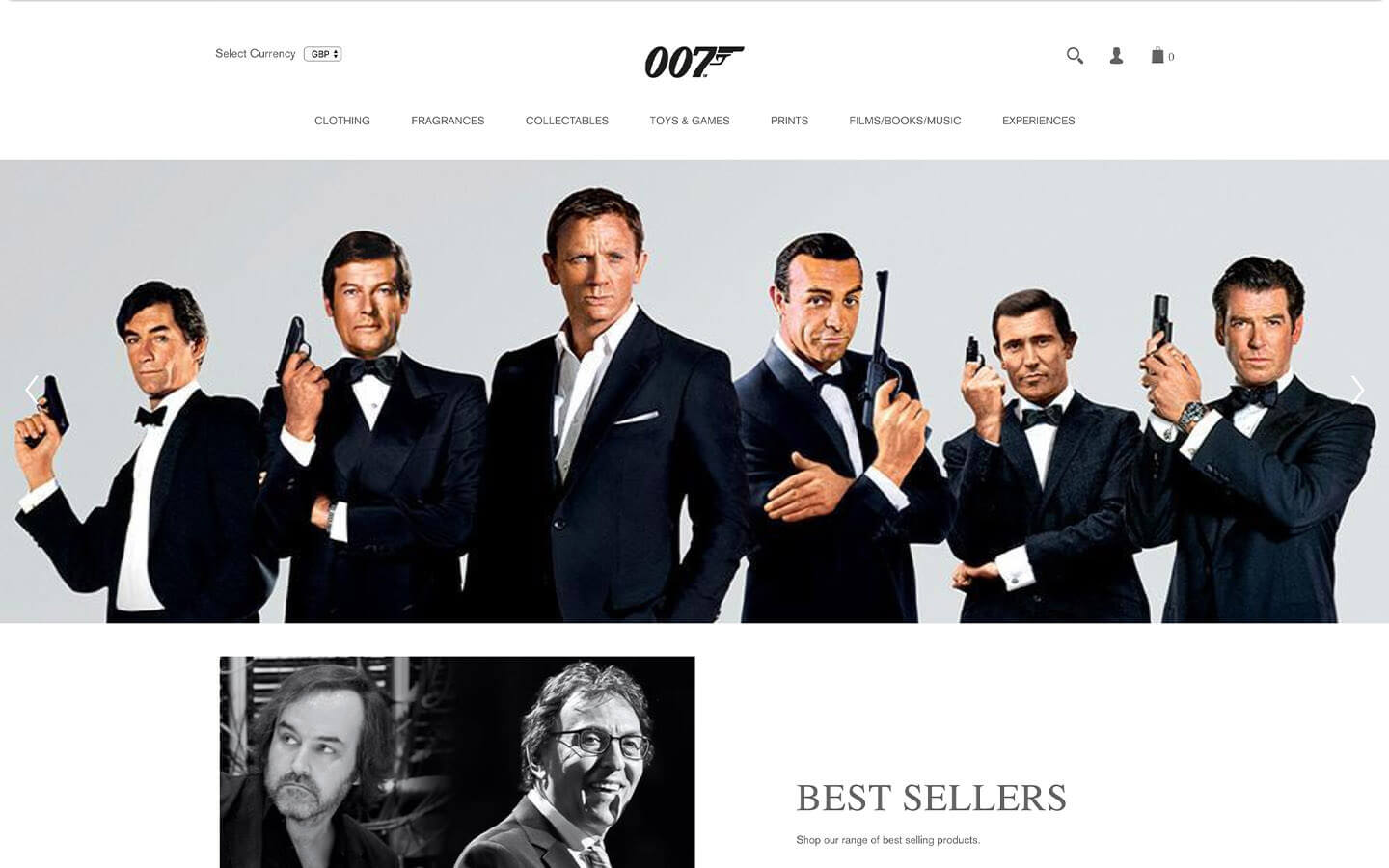 james bond 007 store homepage